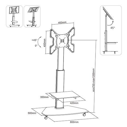 FS02G TV Floor Stand