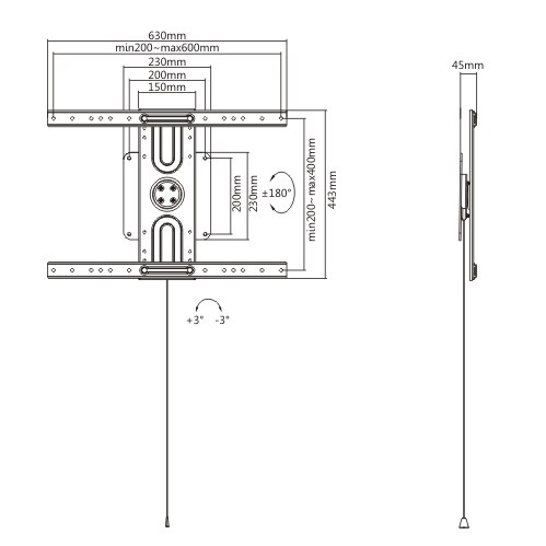 360° rotating mounting plate